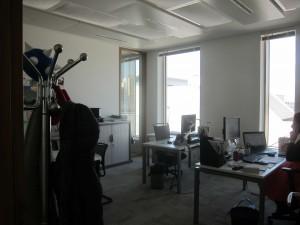Vue intérieure d'un bureau