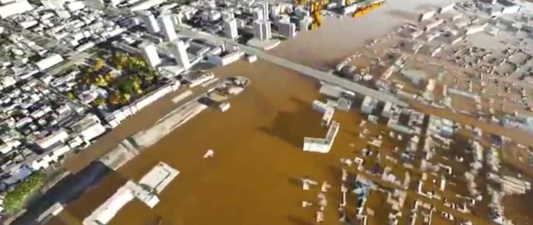 Vidéo: la région parisienne en cas de crue majeure